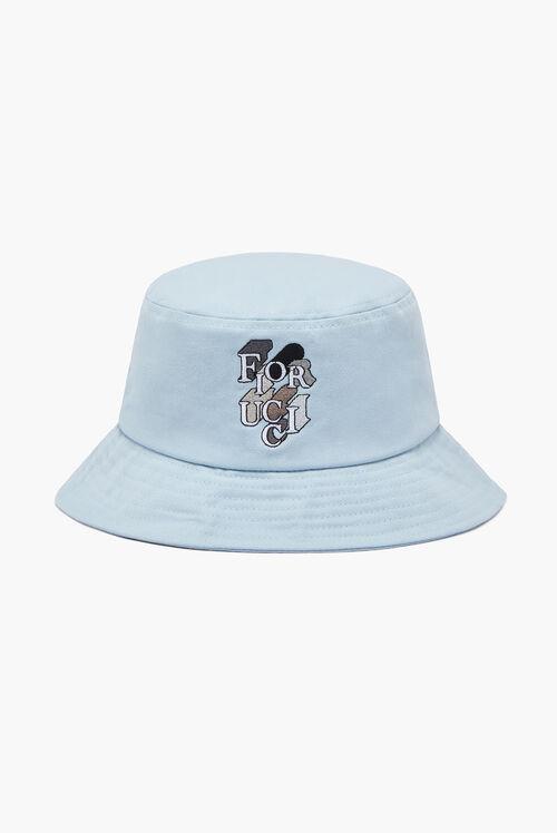Flying Logo Bucket Hat Pale Blue