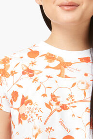Lunar Capsule All Over Print Crop T-Shirt White