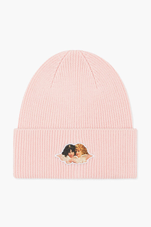 Icon Angels Rib Beanie Pale Pink