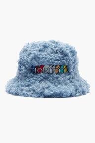 Faux Shearling Bucket Hat Blue