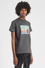 Poolside TV T-Shirt Charcoal Grey