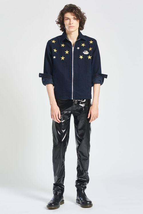 Angels & Stars Embroidered Carter Jacket Navy Blue