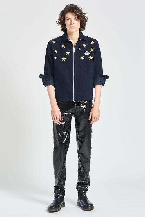 Angels & Stars Embroidered Carter Jacket Navy Blue