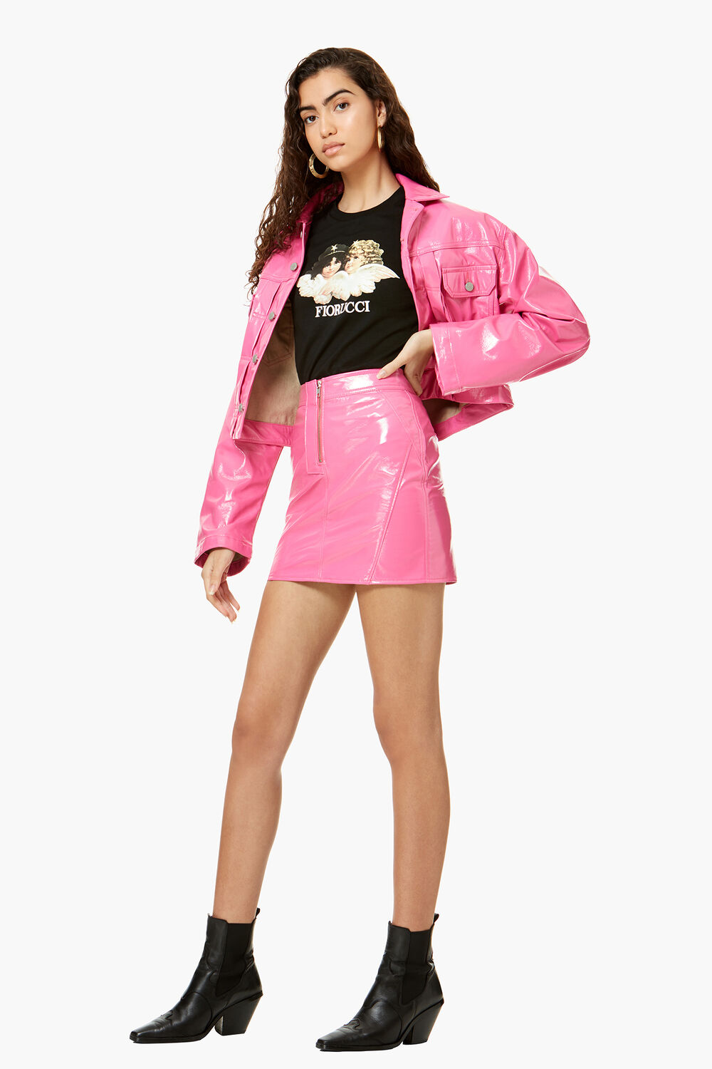 Berty Vinyl Jacket Hot Pink