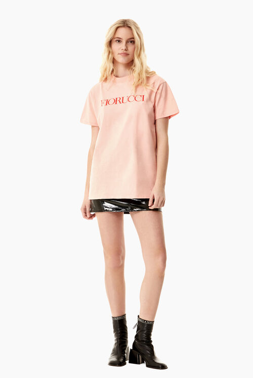 Flying Cherub Oversized T-Shirt Pink
