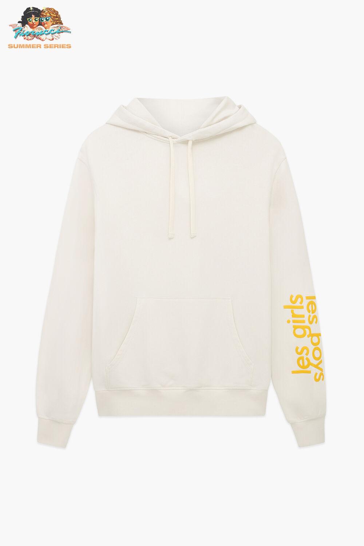 Les Girls Les Boys Yellow Logo Hoodie Grey