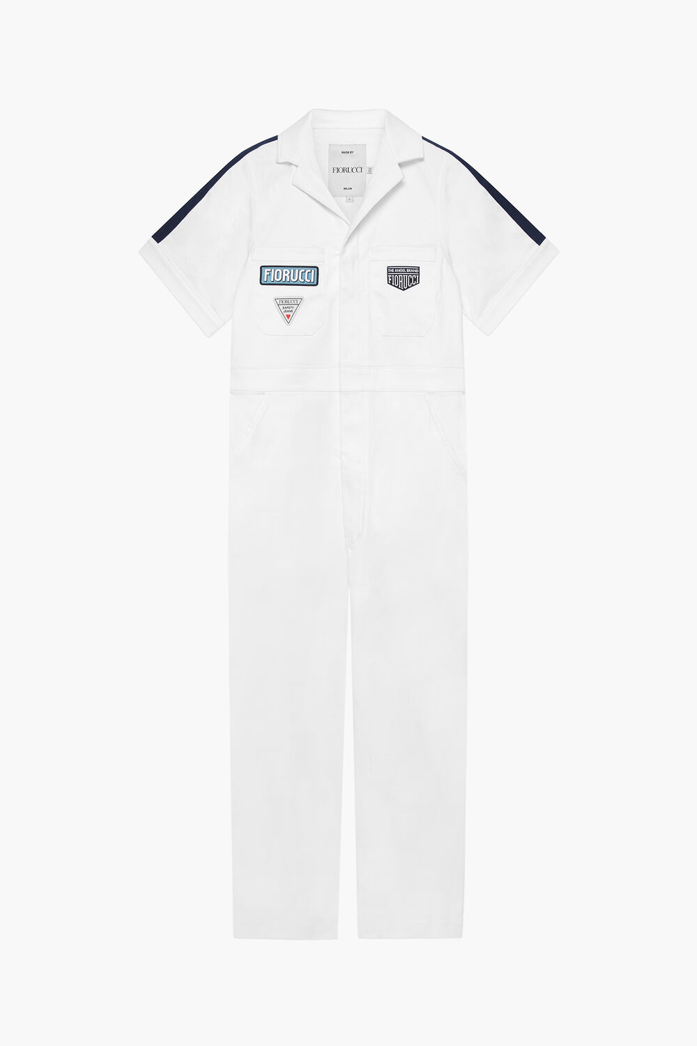 Racing Patch Boiler Suit White