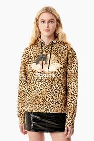 Angels Hoodie Leopard Print