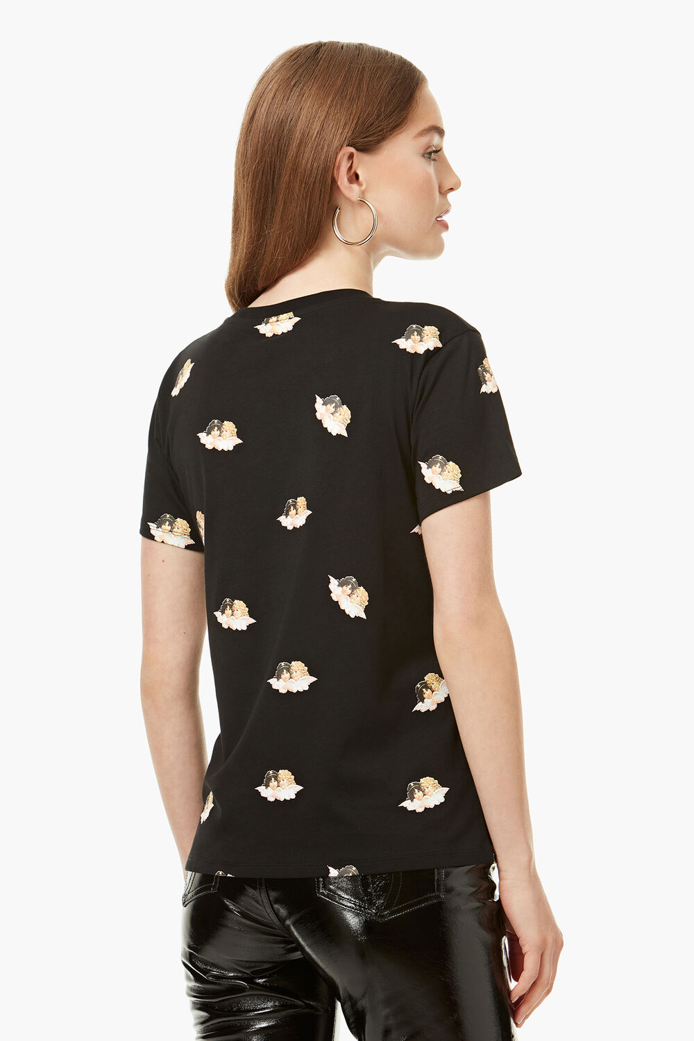All Over Angels T-Shirt Black