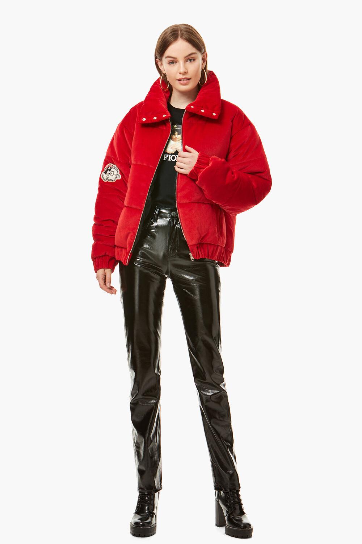 Rubin Red Velvet Puffer