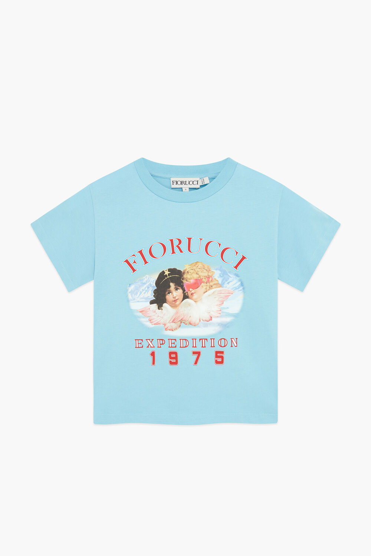 Snow Angels Crop T-Shirt Blue