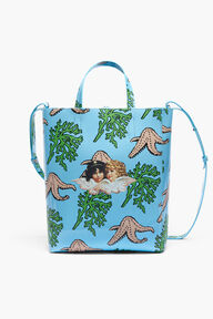 Starfish Angels Print Shopper Bag Blue