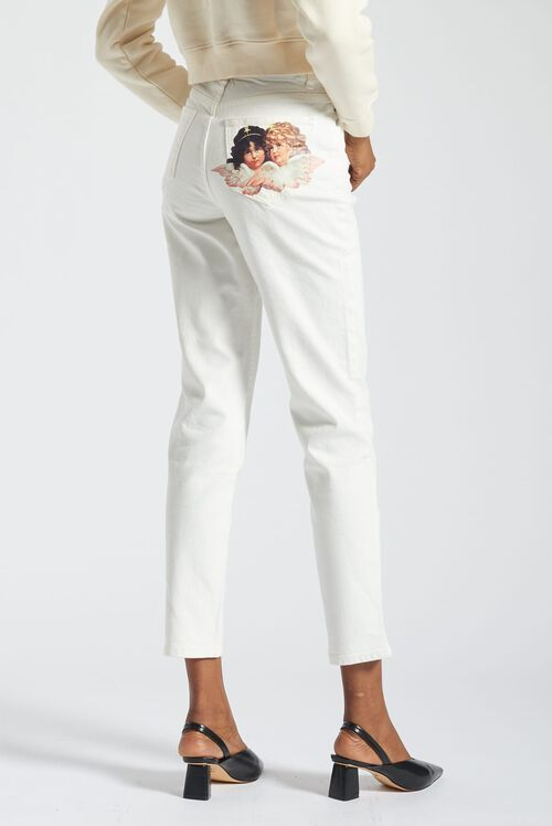 Angels Tara Tapered Jeans White