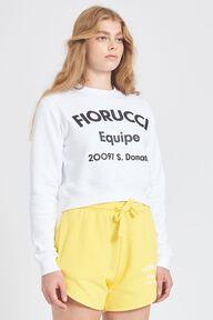 Equipe Logo Crop Sweatshirt White