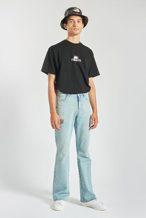 Fiorucci Sun Logo Oversized T-Shirt Black