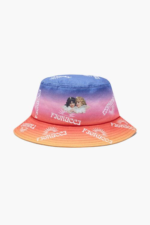 Sunset Print Bucket Hat Pink