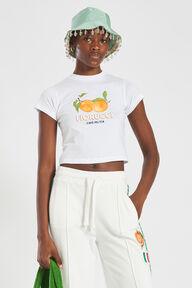 La Pesca Peach Logo Crop T-Shirt White