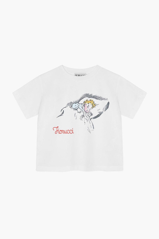 Sleeping Child Boxy Crop T-Shirt White