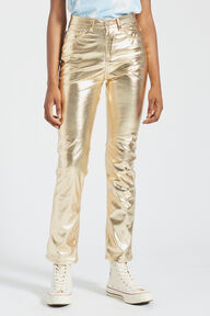 Yves Vinyl Trousers Gold