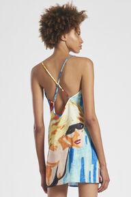 Pool Print Slip Mini Dress Multi