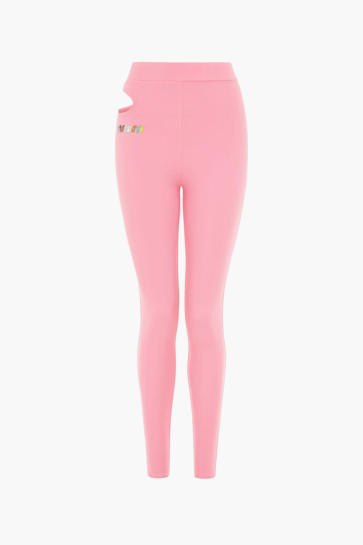 Mono Logo Cut Away Leggings Pink