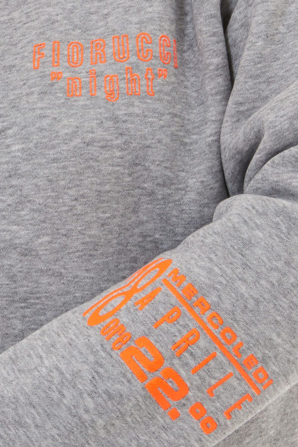 Night Zip Hoodie Grey