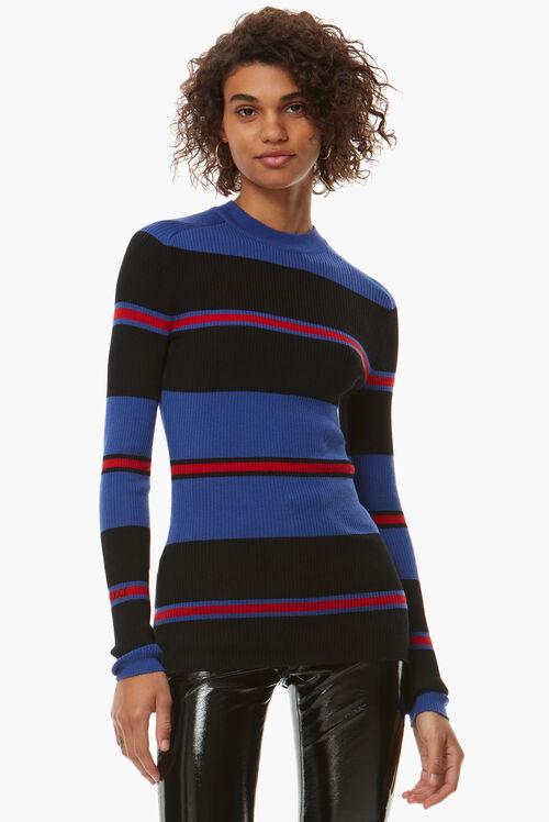 Stripe Rib Logo Sweater
