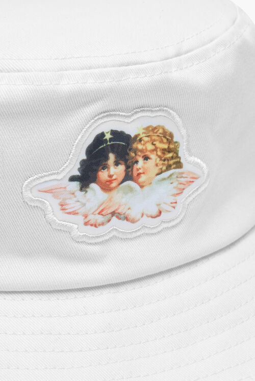 Icon Angels Bucket Hat White