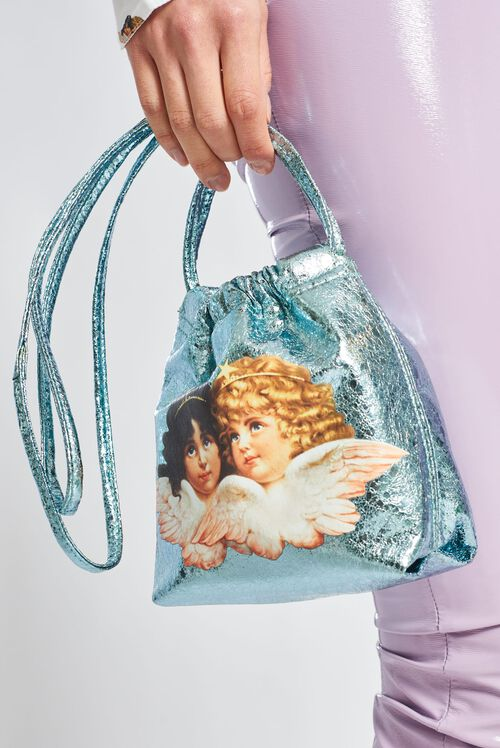 Angels Pouch Bag Blue