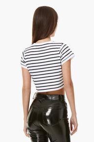 Striped Crop T-Shirt White