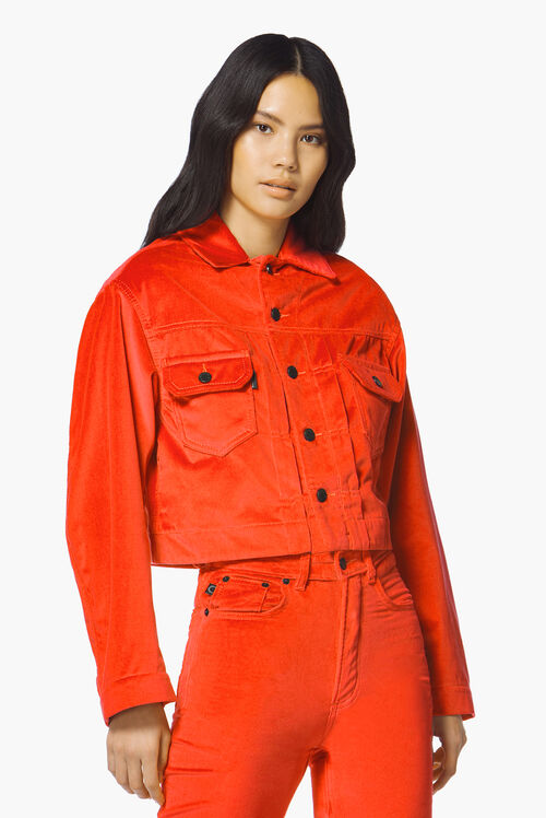 Berty Velvet Jacket Tangerine