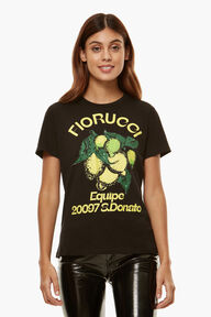 Citrus Print T-Shirt Black