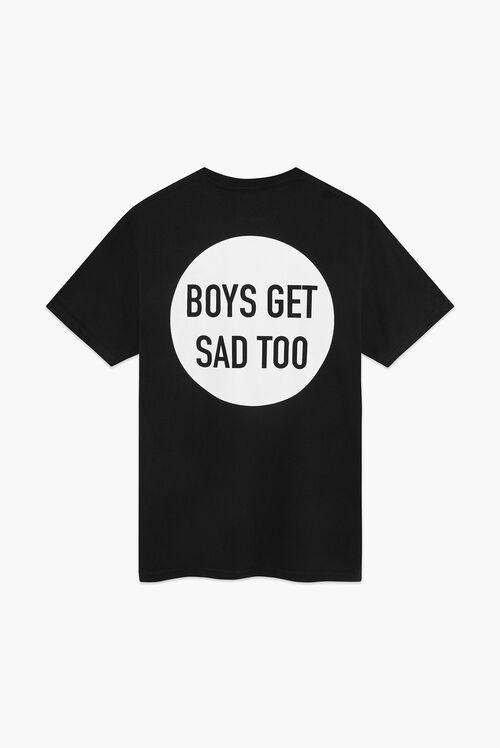 Boys Get Sad Too The Logo T-Shirt Black