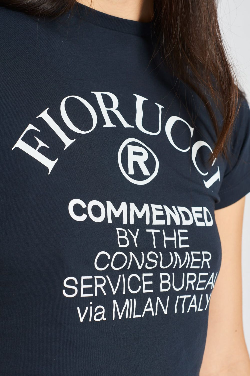 Commended Crop T-Shirt Navy