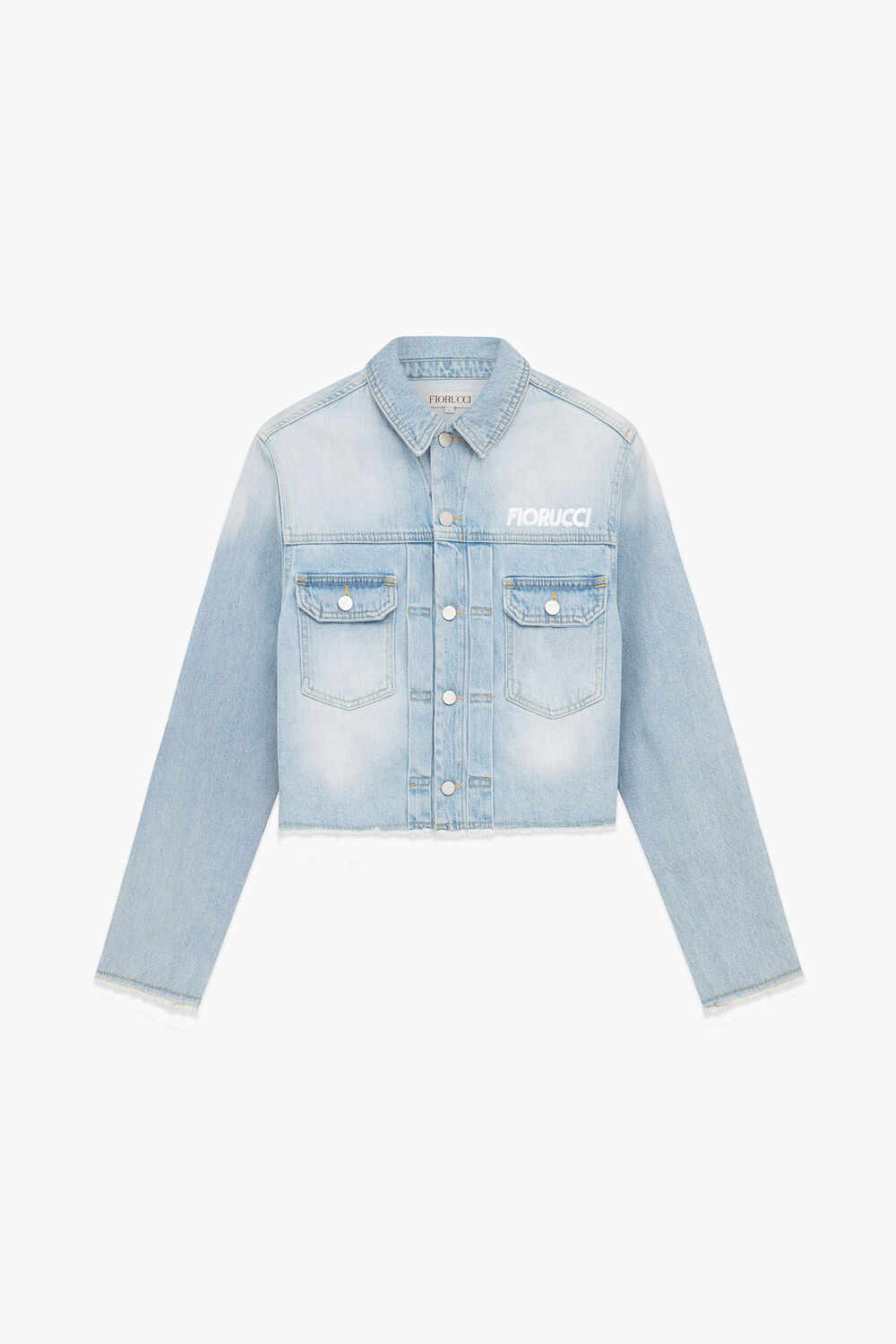 Berty Martini Crop Denim Jacket Light Vintage