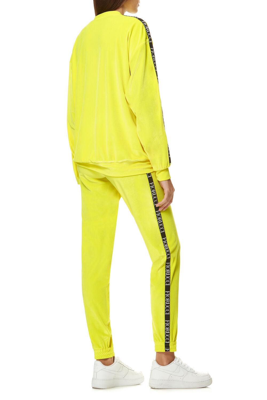Neon Velour Top Yellow