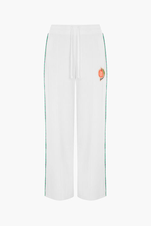 Fiorucci Peach Towelling Flared Joggers White