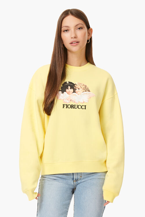 Vintage Angels Sweatshirt Lemon Yellow