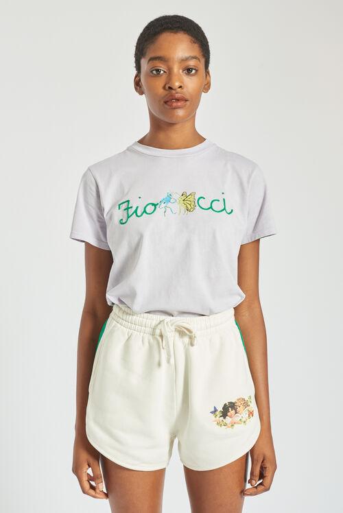 Woodland Dancing Bugs T-Shirt Lilac