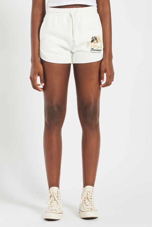 Daisy Angels Track Shorts White
