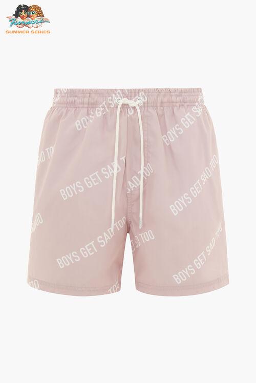 Boys Get Sad Too All Over Shorts Powder Pink