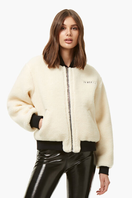 Shearling Lou Bomber Cream