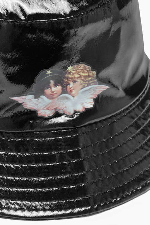 Angels Vinyl Bucket Hat Black