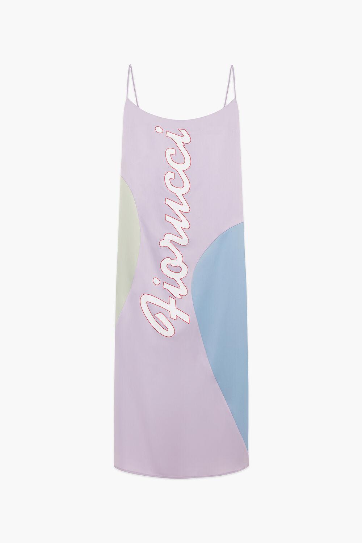 Logo Pastel Midi Slip Dress Lilac