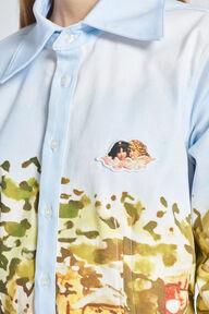 Portofino Print Shirt Mini Dress Blue