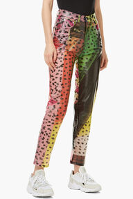 Tara Leopard Print Trousers Multi