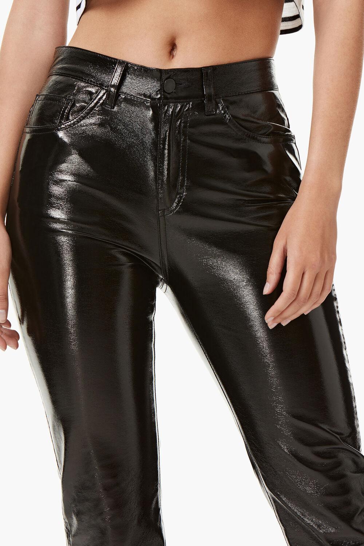 Yvon Vinyl Trousers Black