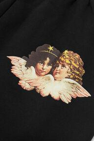 Embroidered Logo Angel Jogger Black