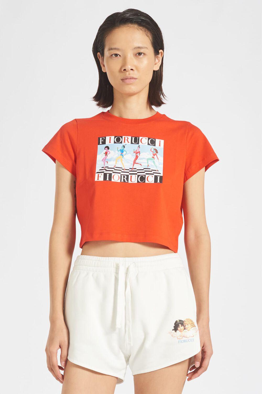 Glacier Girls Crop T-Shirt Red