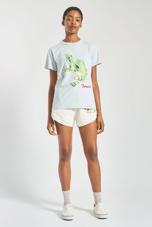 Woodland Frog T-Shirt Pale Blue